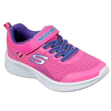 Skechers 302016L PKPR Microspec Little Girls Gore and Strap Sneaker