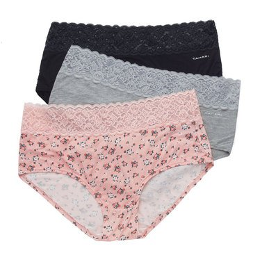 Tahari 3-Pack Lace Trim Briefs