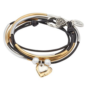 Lizzy James Girlfriend 2 Hearts Wrap Bracelet-Necklace