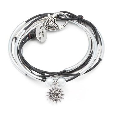 Lizzy James Girlfriend Moon Sun Wrap Bracelet-Necklace