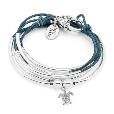Lizzy James Girlfriend Sea Turtle Natural Wrap Bracelet-Necklace