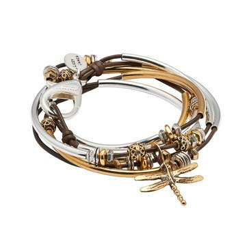 Lizzy James Misty Dragonfly Wrap Bracelet-Necklace