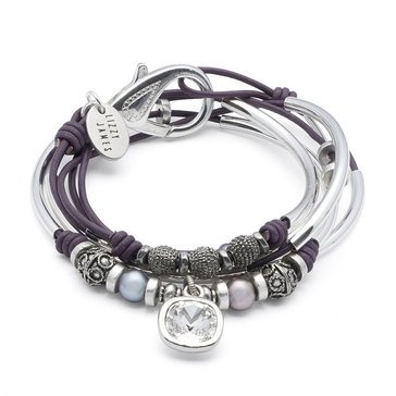 Lizzy James Monica Crystal Drop Wrap Bracelet-Necklace