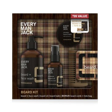 Every Man Jack Sandalwood Beard Gift Set