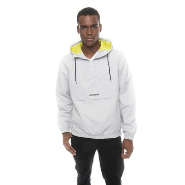 Members Only Men's Pull-Over Quarter Zip Windbreaker
