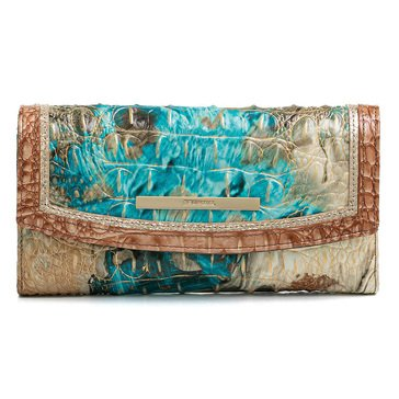 Brahmin Modern Checkbook Wallet Bird of Paradise Vitoria