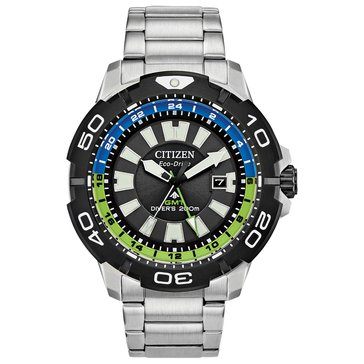 Citizen Eco Drive Promaster GMT Men's Stainless Steel Bracelet Watch