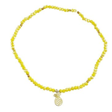Panacea Stretch Yellow Crystal Anklet