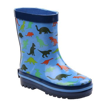 Rugged Bear Little Boys' Dinosaur Rainboot