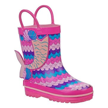 Laura Ashley Little Girls' Mermaid Rainboot