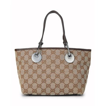 Gucci Brown Canvas Eclipse Bag Mini