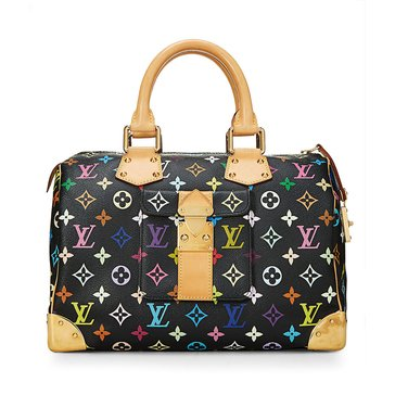 Louis Vuitton Black Multi AB Speedy30