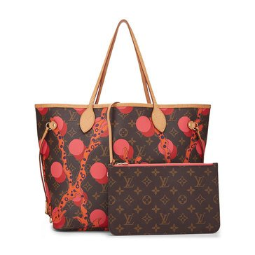 Louis Vuitton Pink Monogram Ramages AB Neverfull NM MM