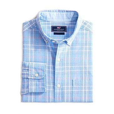 Vineyard Vines Long Sleeve Sportshirt Grapefruit Classic Murray APR