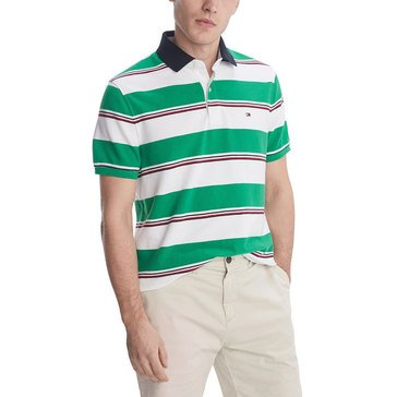 Tommy Hilfiger Men's Striped Marrison Pique Polo