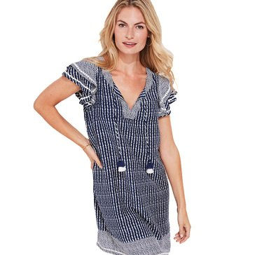 Vineyard Vines Women's Dotted Stripe Tunic