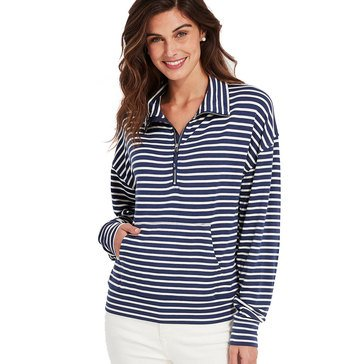 Vineyard Vines Women's Stripe Funnel Neck Pullover