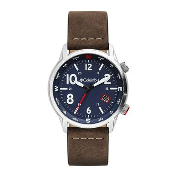 Columbia Outbacker Men's 3-Hand Date Leather Strap Watch