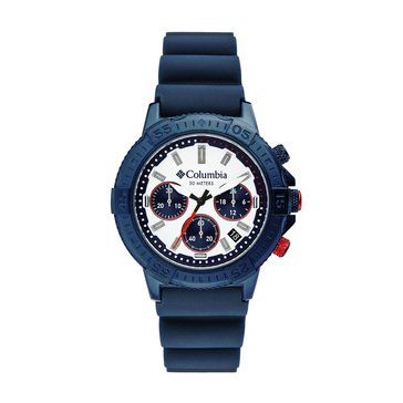 Columbia Peak Patrol Men's Chronograph Day Date Silicone Strap Watch