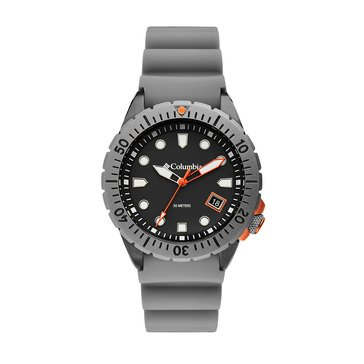 Columbia Pacific Outlander Men's 3-Hand Date Silicone Strap Watch
