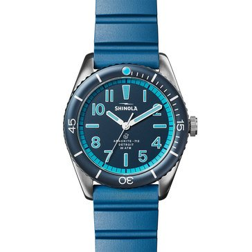 Shinola The Duck Men's Silicone Strap Watch