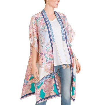 Chico's Women's Medallion-Print Silk Ruana Wrap