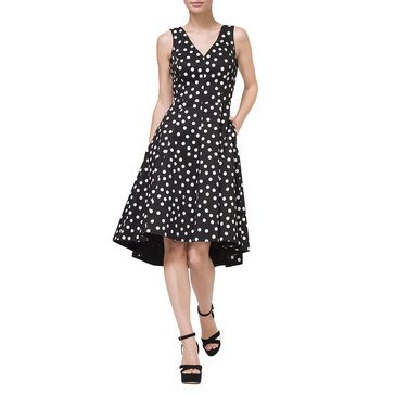 WHBM Apr Taylor Dot Cotton Sateen Fit-n-Flare