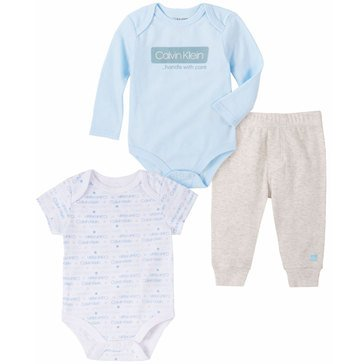 Calvin Klein Baby Boy 2 Bodysuits And Solid Pant