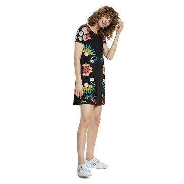 Desigual Dallas Place Print Short Sleeve Dress