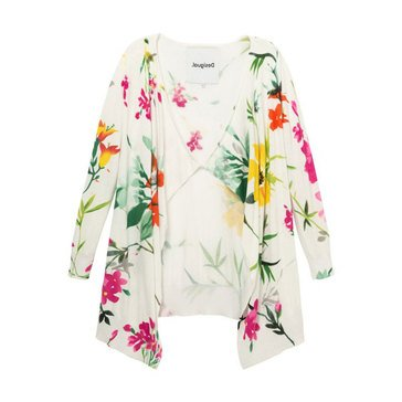 Desigual Women's Long Floral Jacket