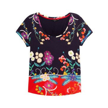 Desigual Women's Tropical Floral Print Tee