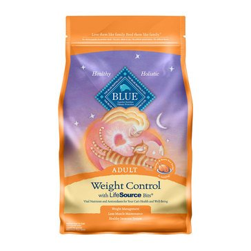 Blue Buffalo Weight Control Formula & Brown Rice Adult Cat Food