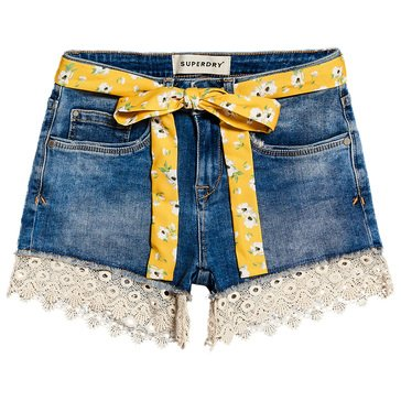 Superdry Women's Lace Hot Denim Shorts