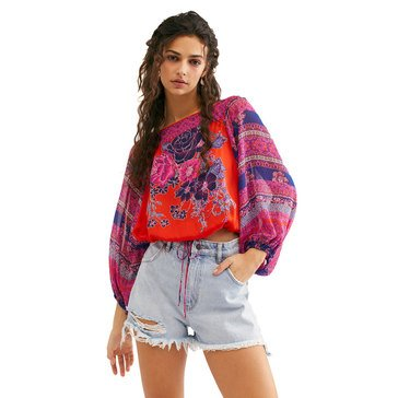 Free People Women's Blue Nile Printed Blouse