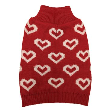 Ethical Pet Allover Hearts Sweater