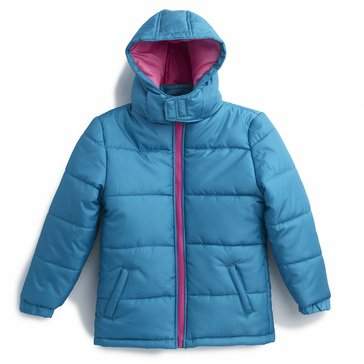 Liberty & Valor Little Girls' Hooded Solid Puffer Jacket