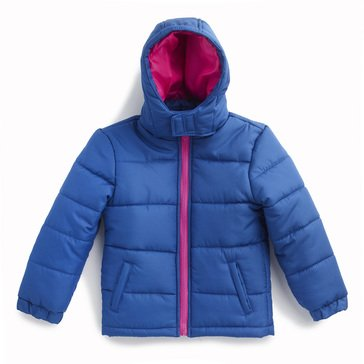 Liberty & Valor Big Girls' Hooded Solid Puffer Jacket