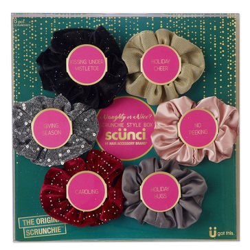 Conair 6pc Opulent Scrunchie Set