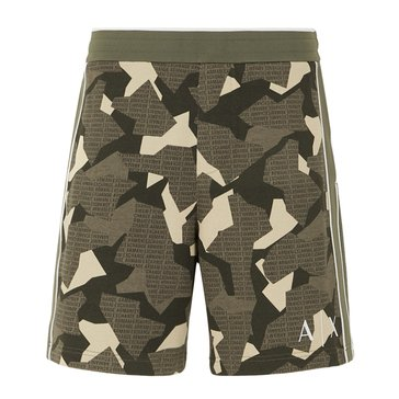 Armani Exchange Men's Logo Camo Bermuda Sweat Shorts