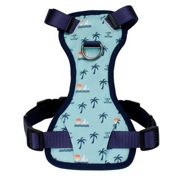 Life is Good Canvas Overlay Dog Harness