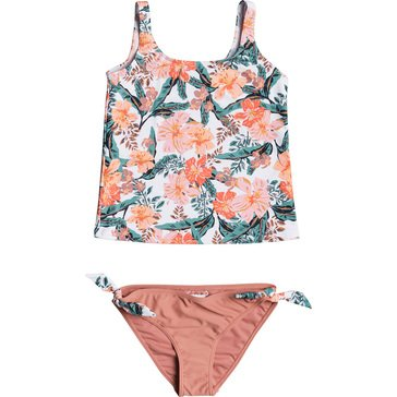 ROXY Big Girls' Love Is Big Tankini Bikini Set