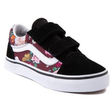 Vans Little Girls' Old Skool V Butterfly Floral Sneaker