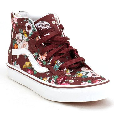 Vans Toddler Girls' Sk8-Hi Zip Butterfly Floral Hi-Top Sneaker