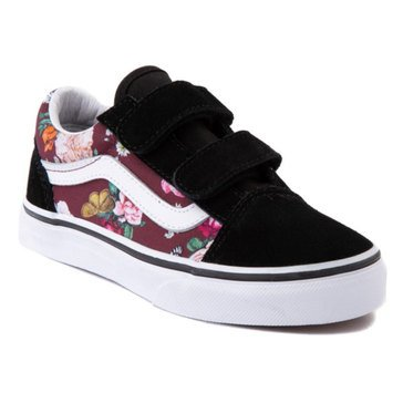 Vans Big Girls' Old Skool V Butterfly Floral Sneaker