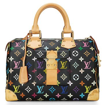 Louis Vuitton Black Multi Speedy 30