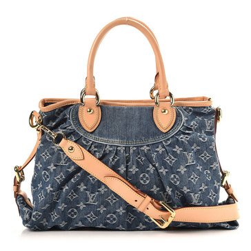 Louis Vuitton Blue Denim Neocabby Mm