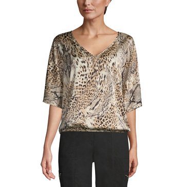 Chicos Women's Animal Silk Blouse