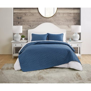 Circle  3-Piece Embossed Quilt Set
