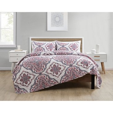 VCNY Lila 3-Piece Embossed Quilt Set