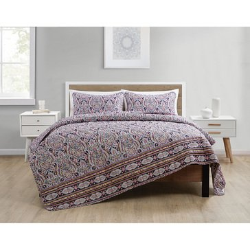 VCNY Harrison 3-Piece Embossed Quilt Set